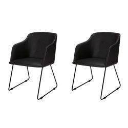 Cobi Armlehnenstühle 2er-Set | Schwarz