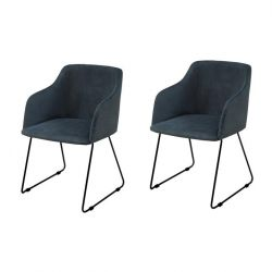 Cobi Arm Chairs Set of 2 | Dark Blue