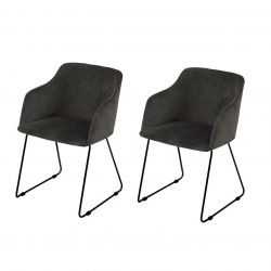 Cobi Arm Chairs Set of 2 | Anthracite
