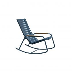 Outdoor Rocking Chair with Bamboo Armrests ReCLIPS | Sky Blue