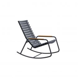 Outdoor Rocking Chair with Bamboo Armrests ReCLIPS | Grey