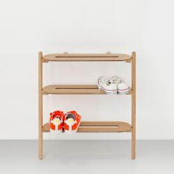 Shoe Rack Heel Bar | Light Wood