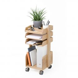 Workspace Organiser Casper Roller | Light Wood