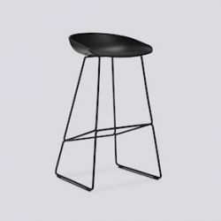 About a Stool High | Black Powder Coated Steel
