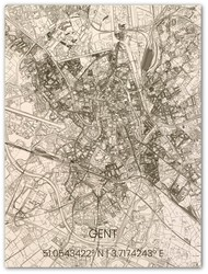 Wooden Wall Decoration | City Map | Gent