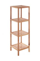 4 Tier Bathroom Shelf | Walnut Wood