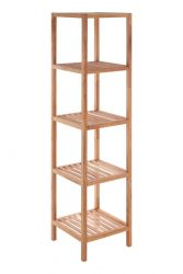 5 Tier Bathroom Shelf | Walnut Wood
