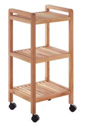 3 Tier Bathroom Trolley | Walnut Wood