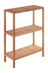 3 Tier Bathroom Shelf Tall | Walnut Wood