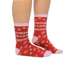 Socks Ladies Wine Christmas