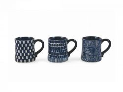 Mug Masai Set of 3 | Blue