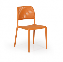 Chaise Empilable Bora Bistrot | Orange