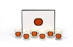 Bougie Parfumée Set de 6 Orange, Cèdre et Clou de Girofle