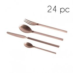 Cutlery 24 Pcs | Copper Matte