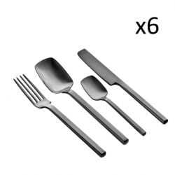 Cutlery Set Heii | 24 Pieces | Dark Grey