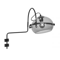 Wall Lamp 1-L 9318ZW Bulb Included  | Black
