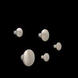 5er Set Dots Metall l Taupe