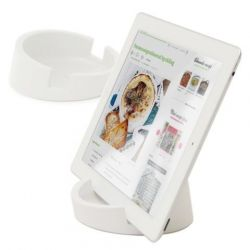 Tablet/Cookbook Stand | White