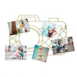 Magnetic Photo Holder Memory Cam | Gold