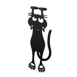 Lesezeichen Curious Cat | Schwarz