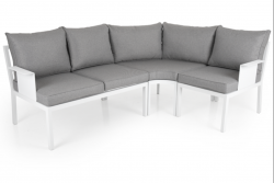 Outdoor Lounge Set Morzine 215 cm + 160 cm | White Frame