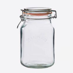 Quadratische Glasklemme oben Jar-2 l