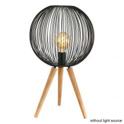 Tischlampe 1-L 2708ZW | Schwarz