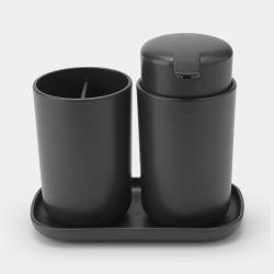 Badkameraccessoire-set ReNew / Set van 3 | Donkergrijs