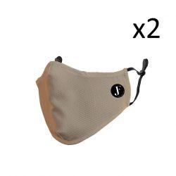 2er-Set Gesichtsmaske Spirit P | Beige