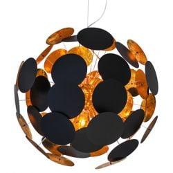 Deckenlampe Planet Ø 65 cm | Schwarz & Gold