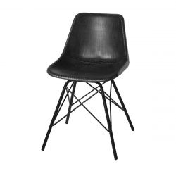 Chair Brooklyn | Black Leather