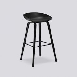 About a Stool High | Black Stained Oak Veneer
