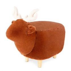 Stool Le Cerf Polyester | Brown