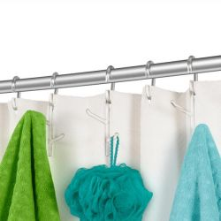 Shower Rings with Hooks | Branch