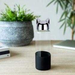 Flasche Katze | Schwarz