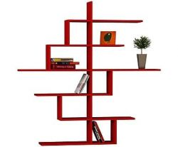 Bookcase Cizgi No.4 | Red