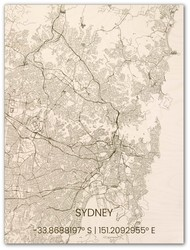 Wooden Wall Decoration | City Map | Sydney