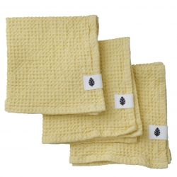 Set of 3 Wash Cloth Waffly 35 cm | Lemon