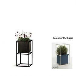 Modular Planting System 2x Black + 1 Blue Bag
