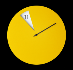 Freakish Clock Yellow