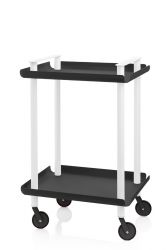 Trolley Leky H 73 cm | White-Black