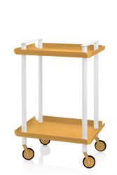Trolley Leky H 73 cm | White-Yellow