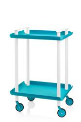 Trolley Leky H 73 cm | White-Turquoise