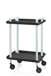 Trolley Leky H 73 cm | Grey-Black