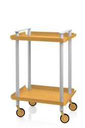 Trolley Leky H 73 cm | Grey-Yellow