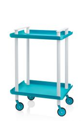 Trolley Leky H 73 cm | Grey-Turquoise