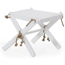 Ribbon Footstool | White
