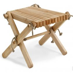 Ribbon Footstool | Natural