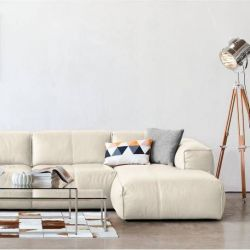 2,5 Seater Sofa with Chaise Long Fresno Eton Leather 5060 | Cream