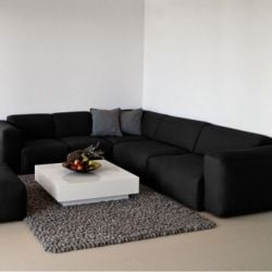 Corner Sofa Fresno Fasoli 2424 | Black Pepper